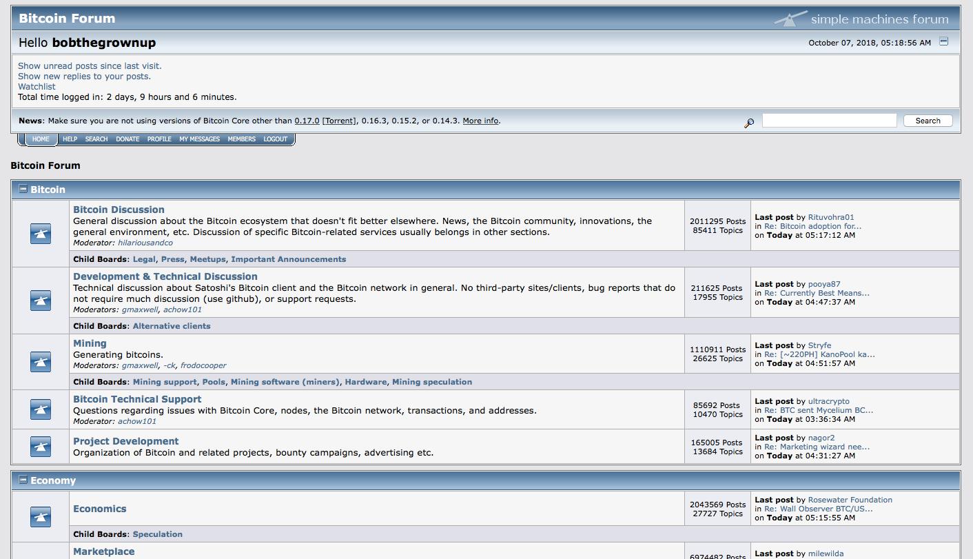satoshi bitcoin forum