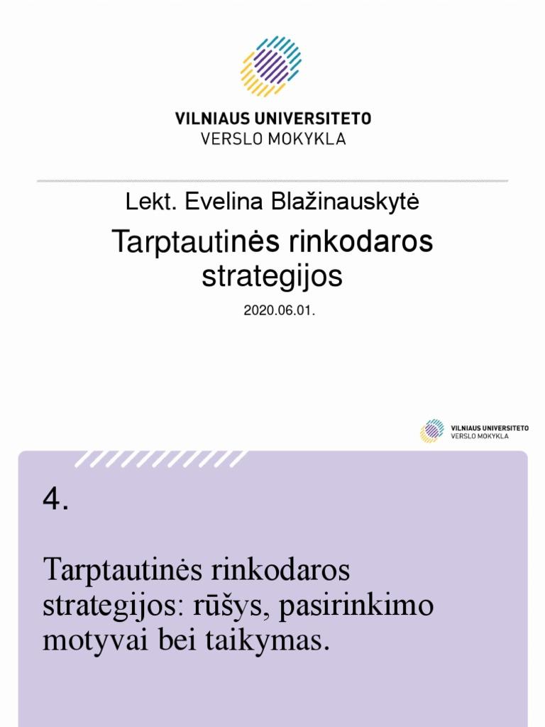 universiteto verslo strategija
