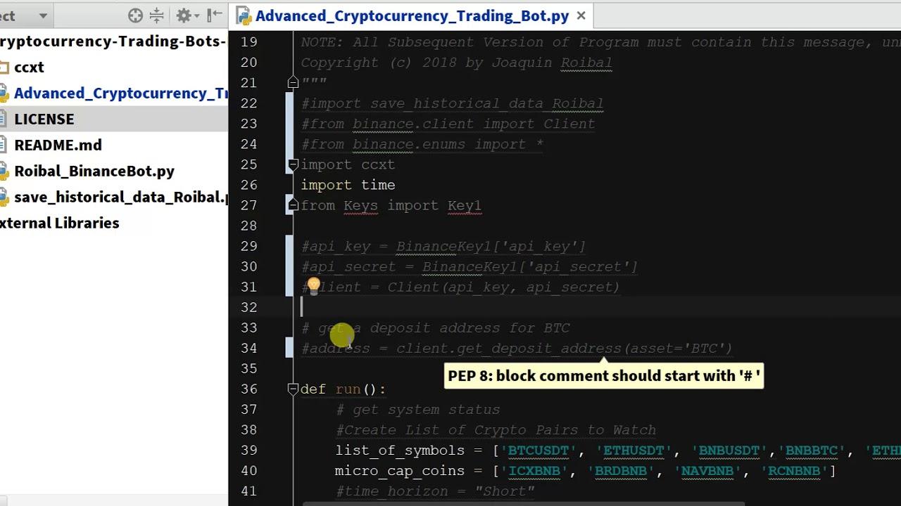 trading bot python binance akcijų pasirinkimo galiojimo pabaigos datos